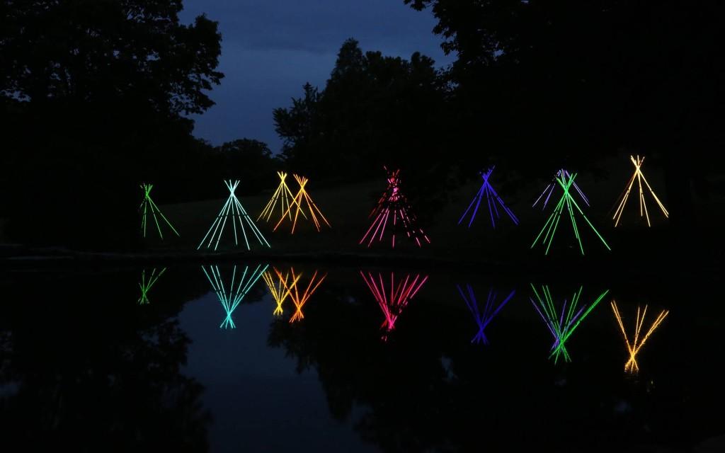 Bruce Munro instalacja światło sztuka niezlasztuka.net